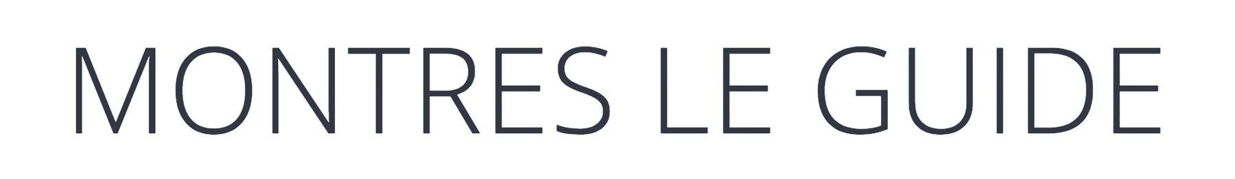 Montres le guide Retina Logo